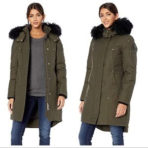 { Moose Knuckles } Stirling Shearling Parka Army